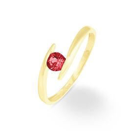 Bague Tiphaine Or Jaune Rubis - Bagues avec pierre Femme | Histoire d'Or