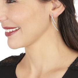 Boucles D'oreilles Pendantes Leia Argent Blanc Oxyde De Zirconium - Boucles d'oreilles fantaisie Femme | Histoire d'Or