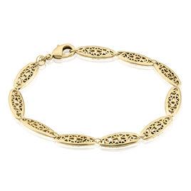 Bracelet Kathlyne Maille Filigrane Plaque Or Jaune - Bracelets chaîne Femme | Histoire d'Or