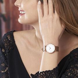Montre Rosefield The Tribeca Blanc - Montres tendances Femme   Histoire d'Or