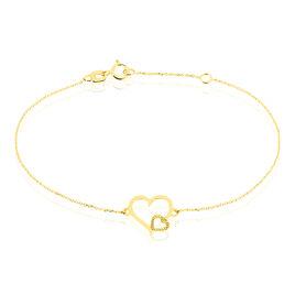 Bracelet Estello Or Jaune - Bracelets Coeur Femme   Histoire d'Or