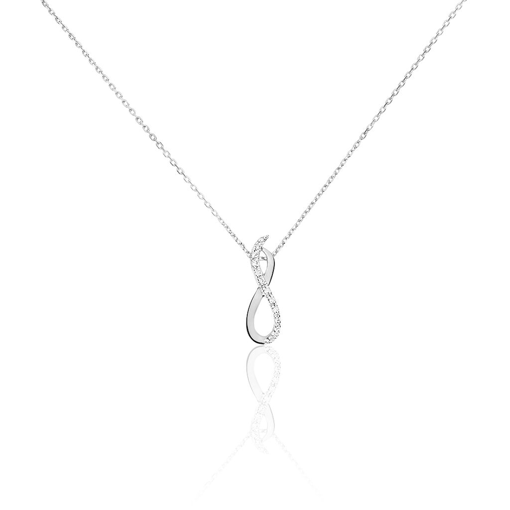 Collier Osanna Or Blanc Diamant - Colliers Infini Femme | Histoire d'Or