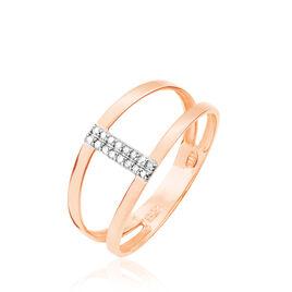 Bague Deborah Or Rose Diamant - Bagues avec pierre Femme | Histoire d'Or