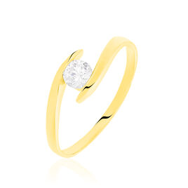Bague Solitaire Maylane Or Jaune Oxyde - Bagues solitaires Femme | Histoire d'Or