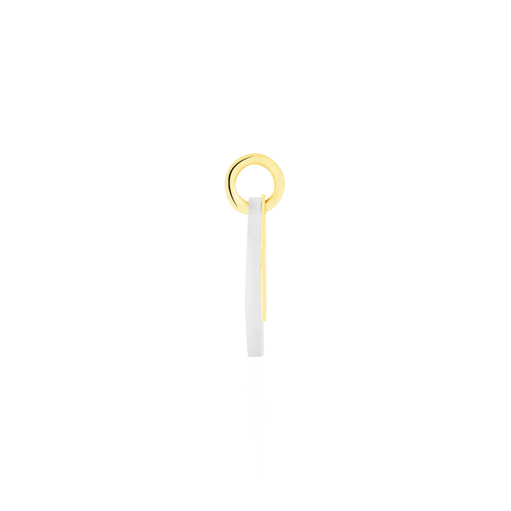 Pendentif Amaryllis Croix Or Jaune Nacre - Pendentifs Croix Femme | Histoire d'Or
