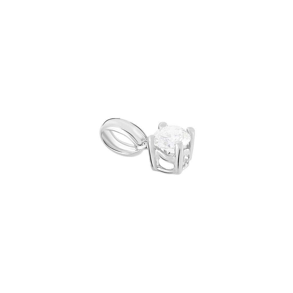 Pendentif Victoria Or Blanc Diamant - Pendentifs Femme   Histoire d'Or