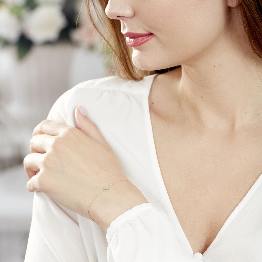 Bracelet Emilia Or Rose Diamant - Bracelets Coeur Femme | Histoire d'Or