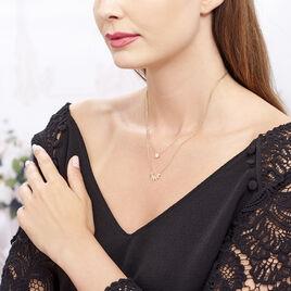 Collier Varia Plaque Or Jaune Oxyde De Zirconium - Colliers doubles et triples chaînes Femme   Histoire d'Or