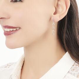 Boucles D'oreilles Pendantes Jolanda Argent Blanc - Boucles d'oreilles fantaisie Femme | Histoire d'Or