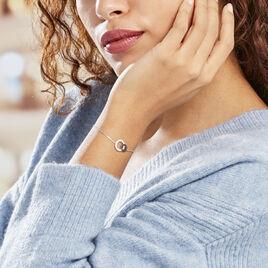 Bracelet Diana Argent Blanc Oxyde De Zirconium - Bracelets fantaisie Femme   Histoire d'Or