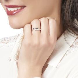Bague Abeline Or Blanc Diamant - Bagues avec pierre Femme   Histoire d'Or