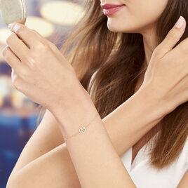 Bracelet Constancia Or Jaune Oxyde De Zirconium - Bracelets Coeur Femme | Histoire d'Or
