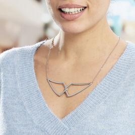 Sautoir Acier Adelind Ouvert Geometrique Croisee Chaine - Colliers fantaisie Femme | Histoire d'Or