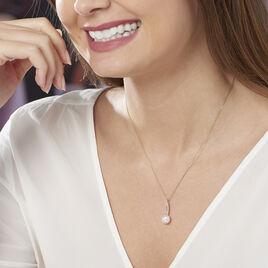 Collier Tesnimae Or Jaune Oxyde De Zirconium Et Perle De Culture - Bijoux Femme | Histoire d'Or