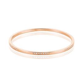 Bracelet Jonc Paradise Acier Dore Rose - Bracelets fantaisie Femme | Histoire d'Or