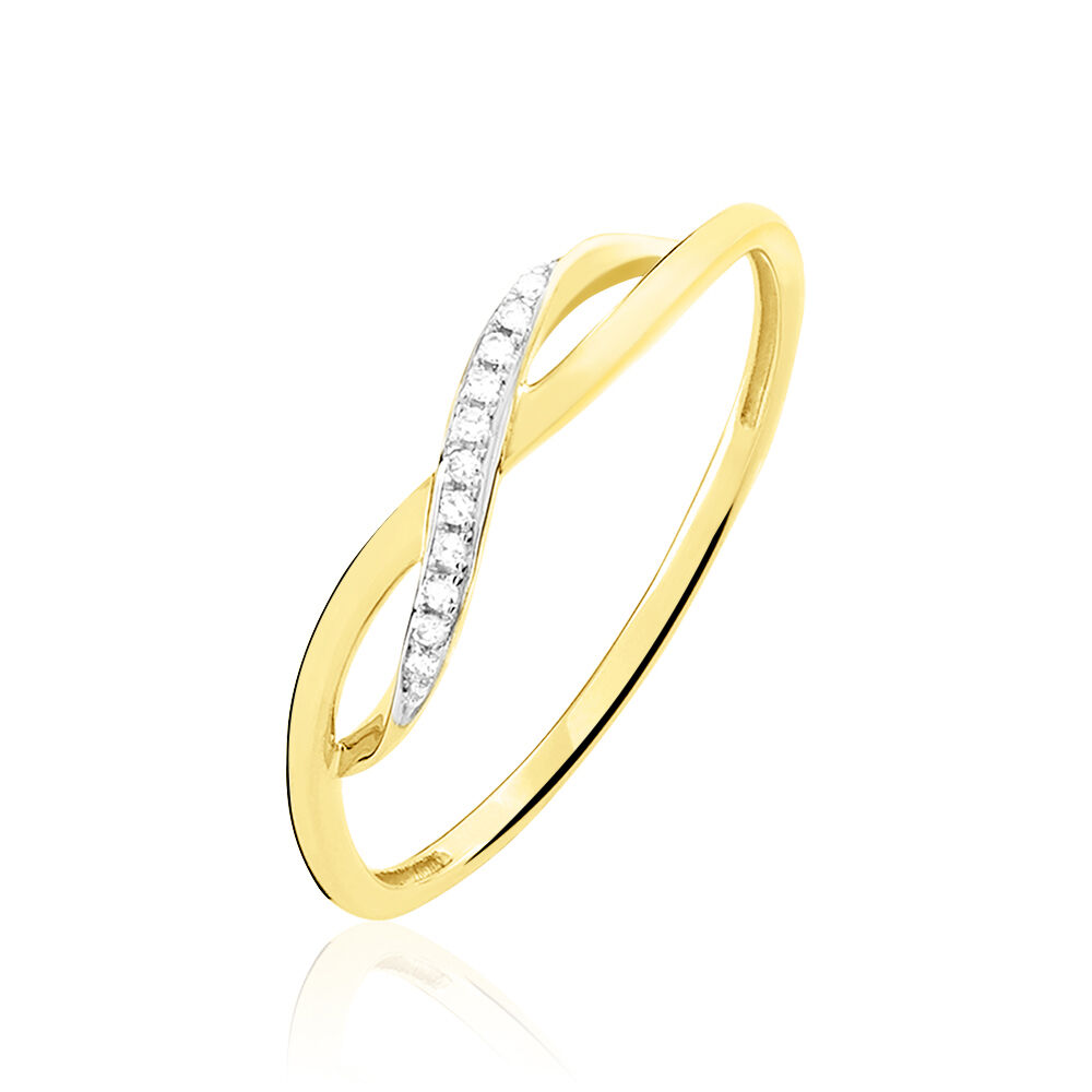 Bague Smina Or Jaune Diamant