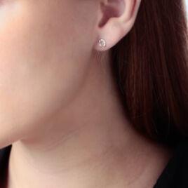Boucles D'oreilles Puces Freyia Cheval Or Jaune - Clous d'oreilles Femme | Histoire d'Or