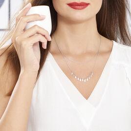 Collier Polyna Argent Blanc - Colliers doubles et triples chaînes Femme | Histoire d'Or