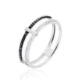 Bague Nao Or Blanc Diamant - Bagues avec pierre Femme | Histoire d'Or