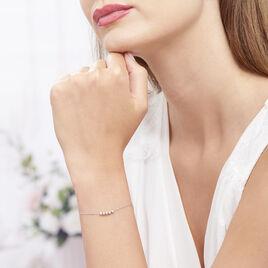 Bracelet Soukamba Argent Blanc - Bracelets fantaisie Femme   Histoire d'Or