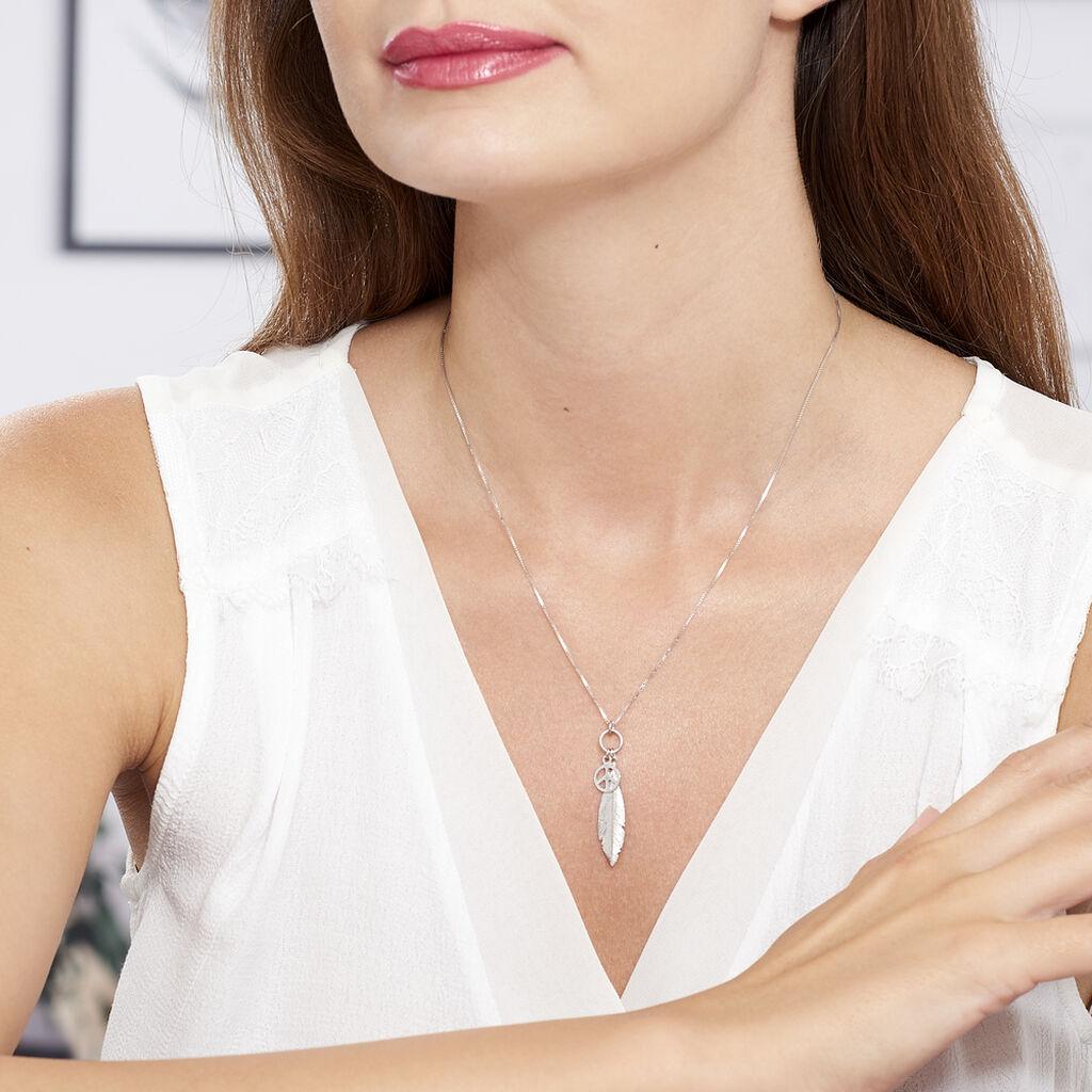 Collier Navajo Argent Blanc - Colliers Plume Femme   Histoire d'Or