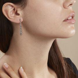 Boucles D'oreilles Pendantes Doryanne Argent Blanc - Boucles d'oreilles fantaisie Femme | Histoire d'Or