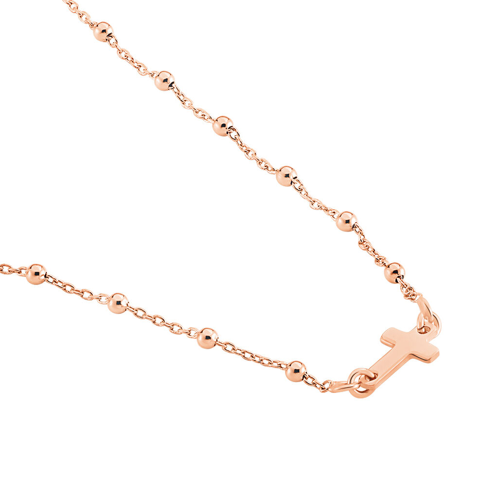 Collier Opale Argent Rose - Colliers Croix Femme | Histoire d'Or