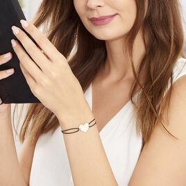 Bracelet Coeur Gravable Or Blanc - Bracelets Coeur Femme | Histoire d'Or