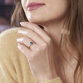 Bague Sarika Or Rose Topaze Et Oxyde De Zirconium - Bagues solitaires Femme   Histoire d'Or