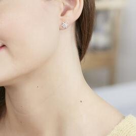 Boucles D'oreilles Argent Rhodie Leila Puce Oxyde - Boucles d'oreilles fantaisie Femme | Histoire d'Or