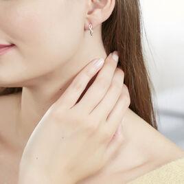 Boucles D'oreilles Puces Smina Or Jaune Diamant - Boucles d'oreilles pendantes Femme | Histoire d'Or