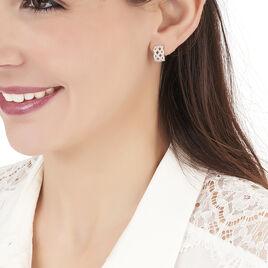 Boucles D'oreilles Puces Yelena Or Blanc Diamant - Clous d'oreilles Femme   Histoire d'Or