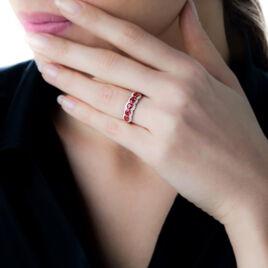 Bague Margaux Or Bicolore Rubis Et Diamant - Bagues avec pierre Femme | Histoire d'Or
