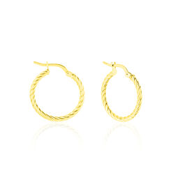 Créoles Bartimee Torsade Or Jaune - Boucles d'oreilles créoles Femme | Histoire d'Or