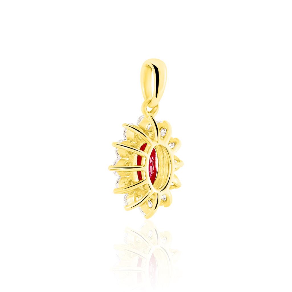 Pendentif Vladimir Or Jaune Rubis Et Diamant - Pendentifs Femme   Histoire d'Or