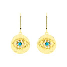 Boucles D'oreilles Pendantes Firmine Or Jaune Oxyde De Zirconium - Boucles d'oreilles pendantes Femme | Histoire d'Or