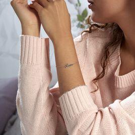 Bracelet Yuki Argent Blanc - Bracelets fantaisie Femme   Histoire d'Or