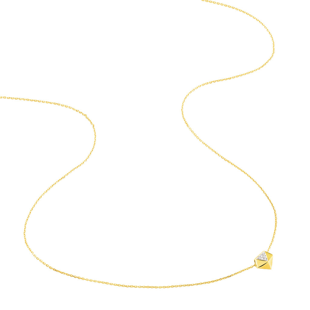 Collier Thida Or Jaune Diamant