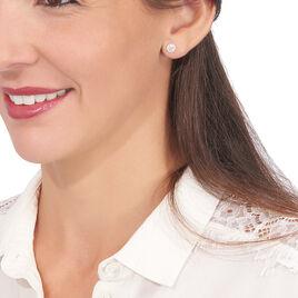 Boucles D'oreilles Puces Edmee Or Jaune Oxyde De Zirconium - Clous d'oreilles Femme | Histoire d'Or