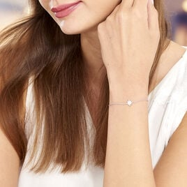 Bracelet Speranza Argent Blanc Oxyde De Zirconium - Bijoux Etoile Femme   Histoire d'Or