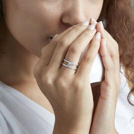 Bague Lucyna Or Blanc Oxyde De Zirconium - Bagues solitaires Femme | Histoire d'Or