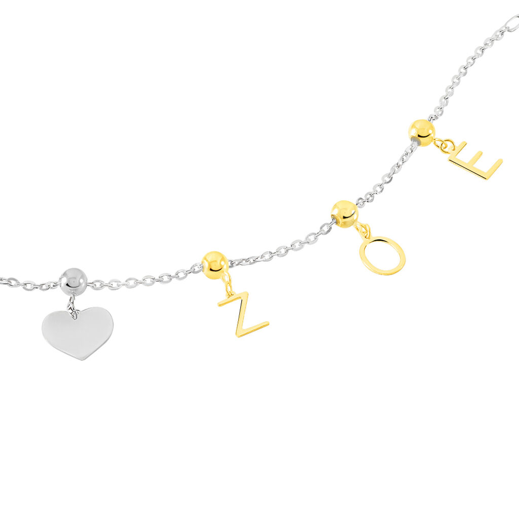 Charms Kaythleen Or Blanc - Pendentifs Coeur Femme | Histoire d'Or