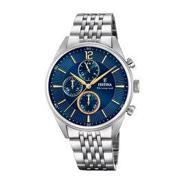 Montre Festina Timeless Chronograph Bleu - Montres classiques Homme | Histoire d'Or