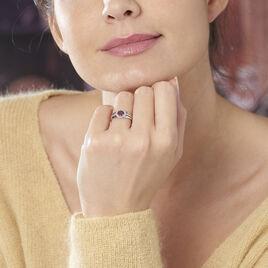 Bague Lise-laure Or Blanc Rubis Et Diamant - Bagues avec pierre Femme   Histoire d'Or