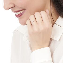 Bague Accumulation Coeur Argent Blanc Oxyde De Zirconium - Bagues Coeur Femme | Histoire d'Or