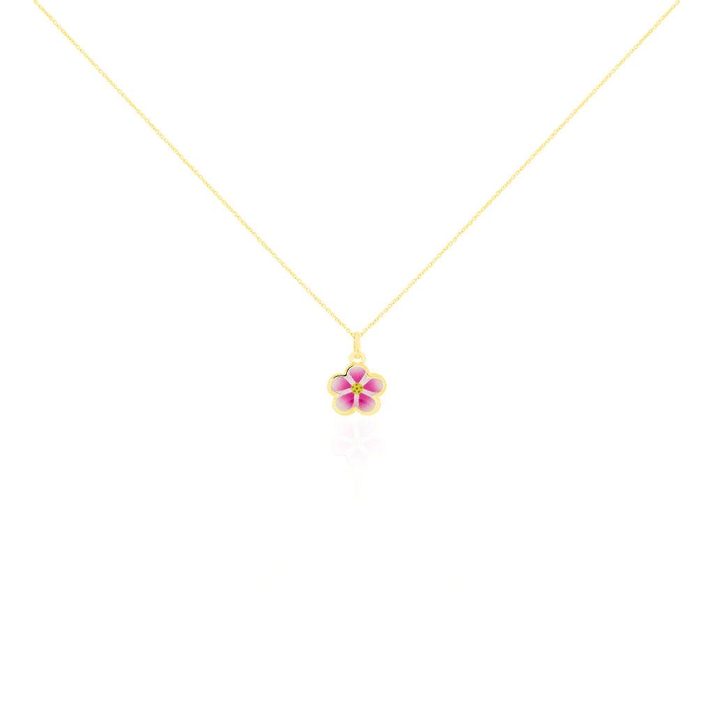 Collier Syna Fleur Or Jaune - Colliers Naissance Enfant | Histoire d'Or
