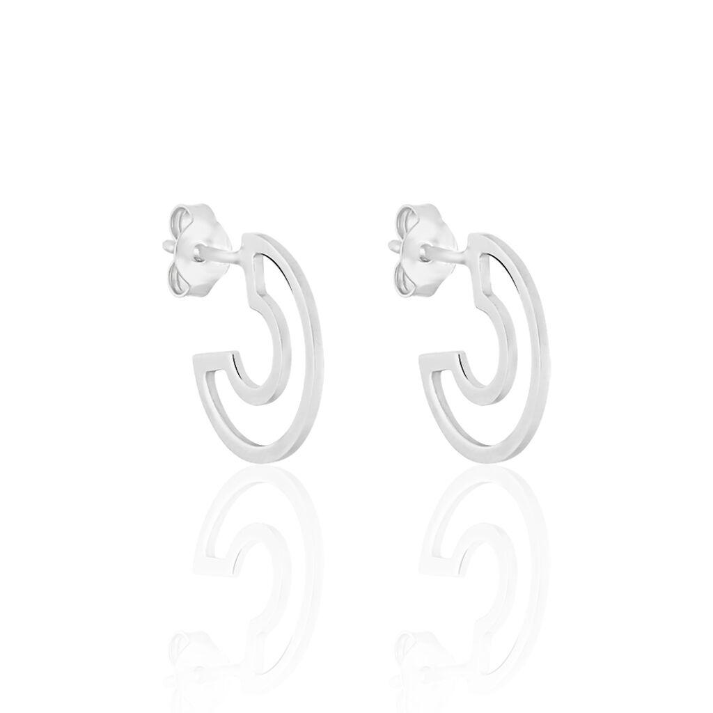 Boucles D'oreilles Pendantes Patsy Argent Blanc - Boucles d'oreilles créoles Femme | Histoire d'Or