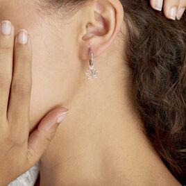 Creoles Argent Blanc  Rosita - Boucles d'oreilles créoles Femme | Histoire d'Or
