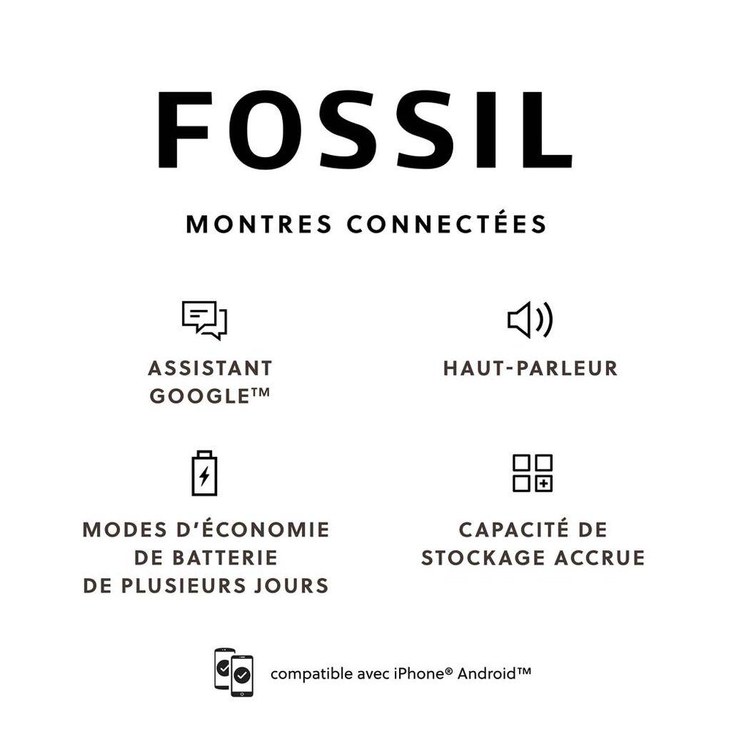 Montre Connectée Fossil Connecte Carlyle Hr - Montres classiques Homme   Histoire d'Or