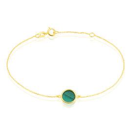 Bracelet Florica Or Jaune Malachite - Bijoux Femme   Histoire d'Or